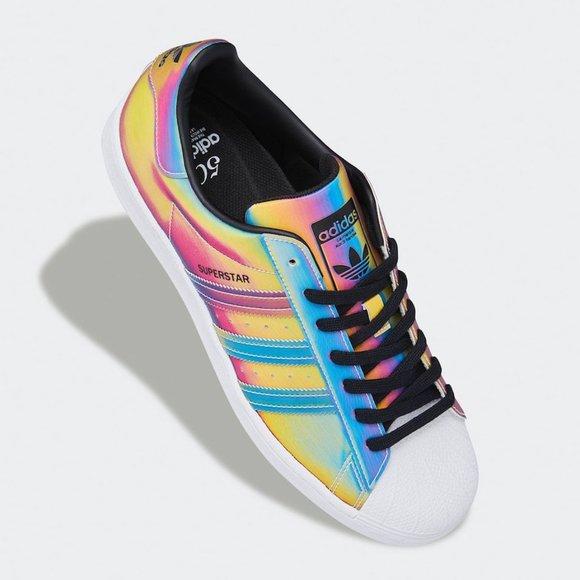 Adidas Rainbow Sneakers Men 9/W10 2 week sale!